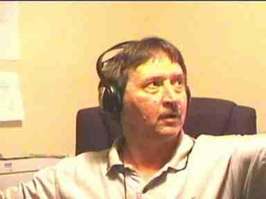 David with earphones