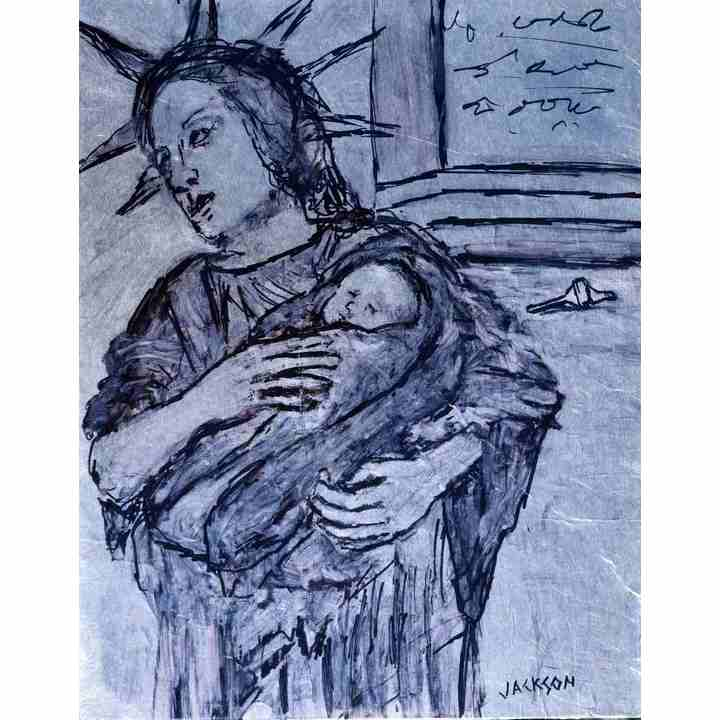 Liberty-with-Child-Painting